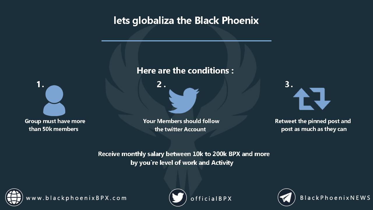 Let's Globalize the Black Phoenix, Globalize, کریپتو کارنسی , بیت کوین , اتریوم , ترون , ارز دیجیتال , بازار مالی , Cryptocurrency , crypto , bitcoin , BTC , ETH , Ether , Ethereum , Blockchain , cryptocurrency market , digital marketing , TRX , TRC20 , Tron , Tronscan , Black Phoenix , BPX , Fastest Blockchain